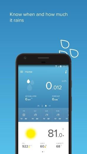 netatmo weather station for android smart home db the smart home database. Black Bedroom Furniture Sets. Home Design Ideas